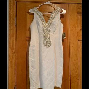 Taylor white dress